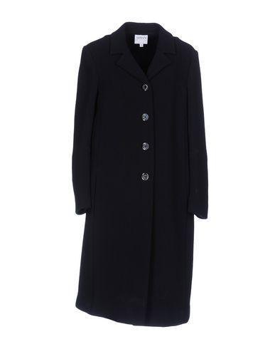Armani Collezioni Coats In Dark Blue