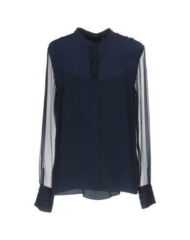 Elie Tahari Silk Shirts & Blouses In Dark Blue