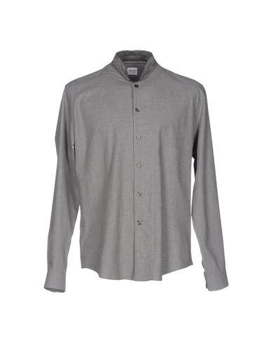 Armani Collezioni Solid Color Shirt In Grey