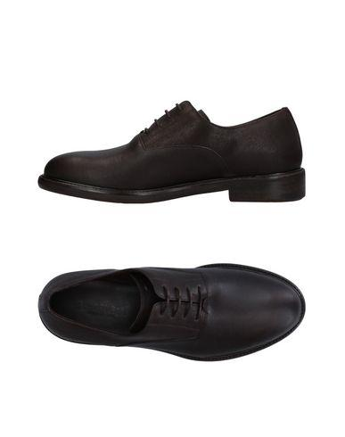 A.testoni Lace-up Shoes In Dark Brown