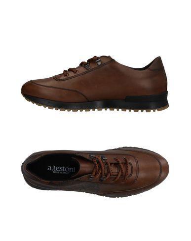 A.testoni Sneakers In Khaki
