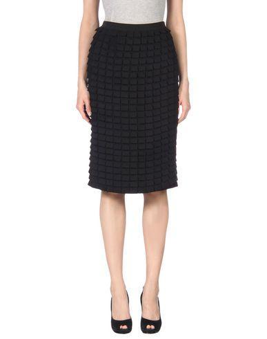 Donna Karan Knee Length Skirt In Black