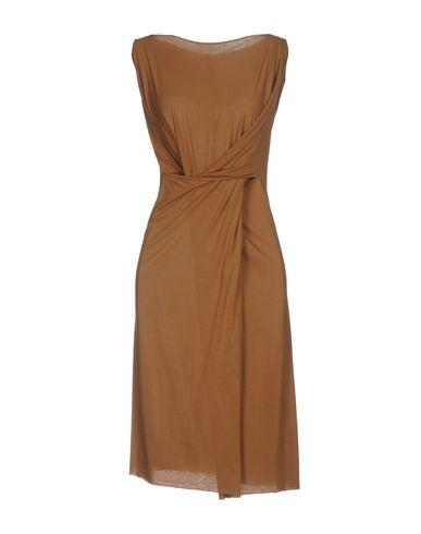 Rick Owens Short Dress In Camel