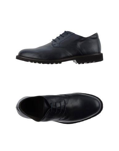 Canali Laced Shoes In Dark Blue