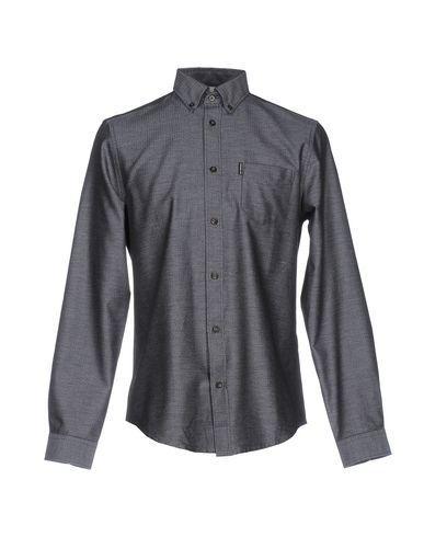 Ben Sherman Solid Color Shirt In Dark Blue
