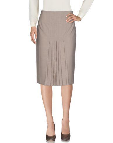 Akris 3/4 Length Skirt In Khaki