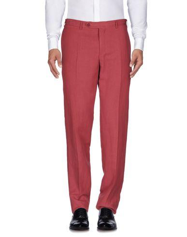 Canali Casual Pants In Brick Red