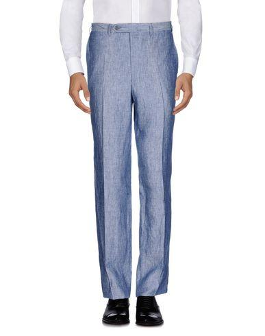Canali Casual Pants In Slate Blue