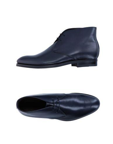 Canali Lace-up Shoes In Dark Blue