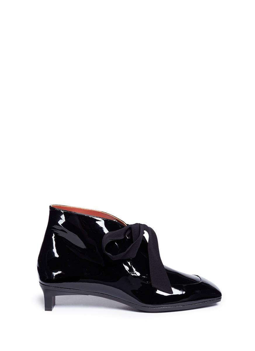 3.1 Phillip Lim 'blade Desert' Geometric Heel Calfskin Leather Booties