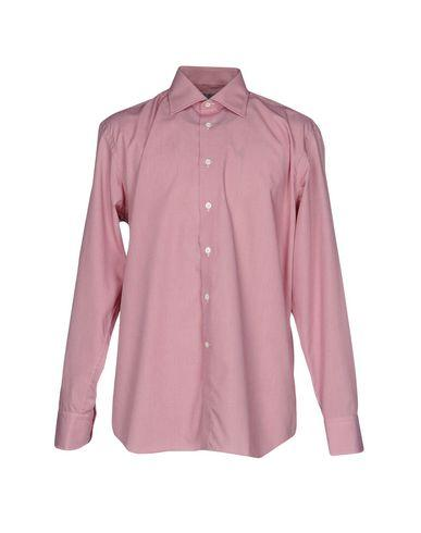 Canali Patterned Shirt In Maroon