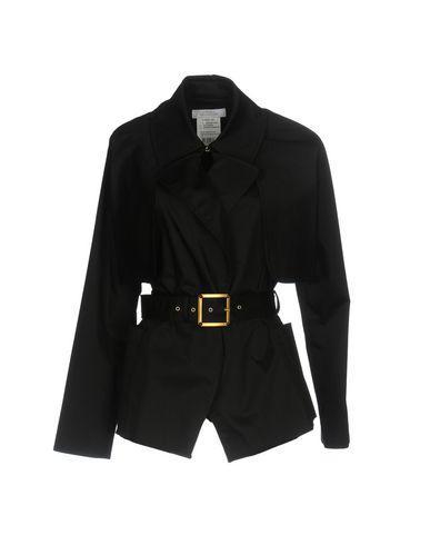 Versace Belted Coats In Black