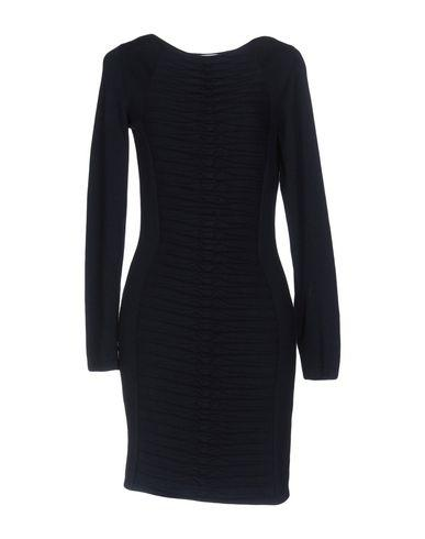 Versace Short Dress In Dark Blue