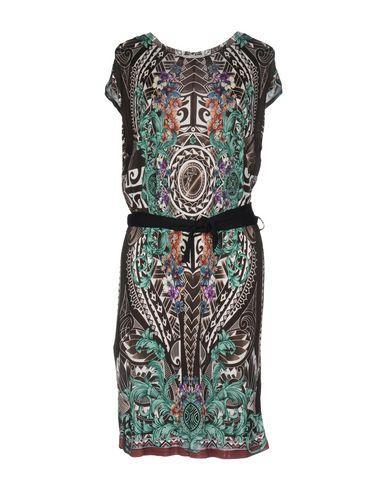 Versace Short Dresses In Dark Brown