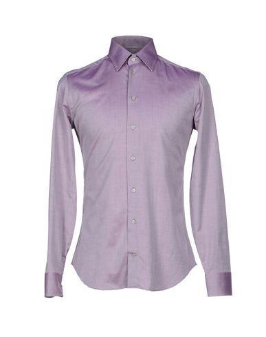 Armani Collezioni Solid Color Shirt In Mauve