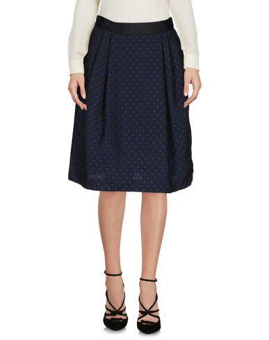 Armani Collezioni Knee Length Skirts In Dark Blue