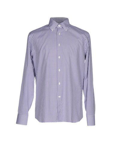 Canali Checked Shirt In Purple