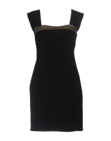 Versace Short Dresses In Black