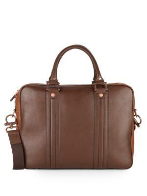 Robert Graham Roman Leather Briefcase In Brown