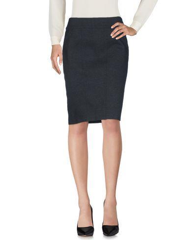 Donna Karan Knee Length Skirts In Steel Grey