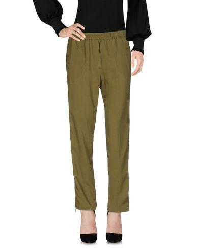 Nude Casual Pants In Military Green