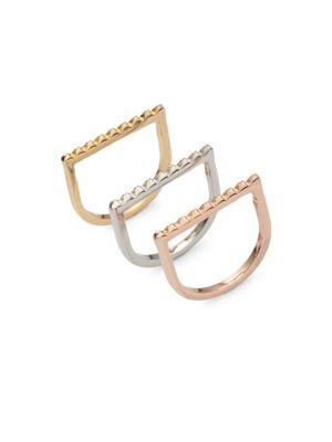 Jules Smith Pyramid Stackable Rings In Gold Silver