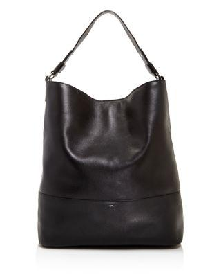 Shinola Relaxed Leather Hobo Bag - Black