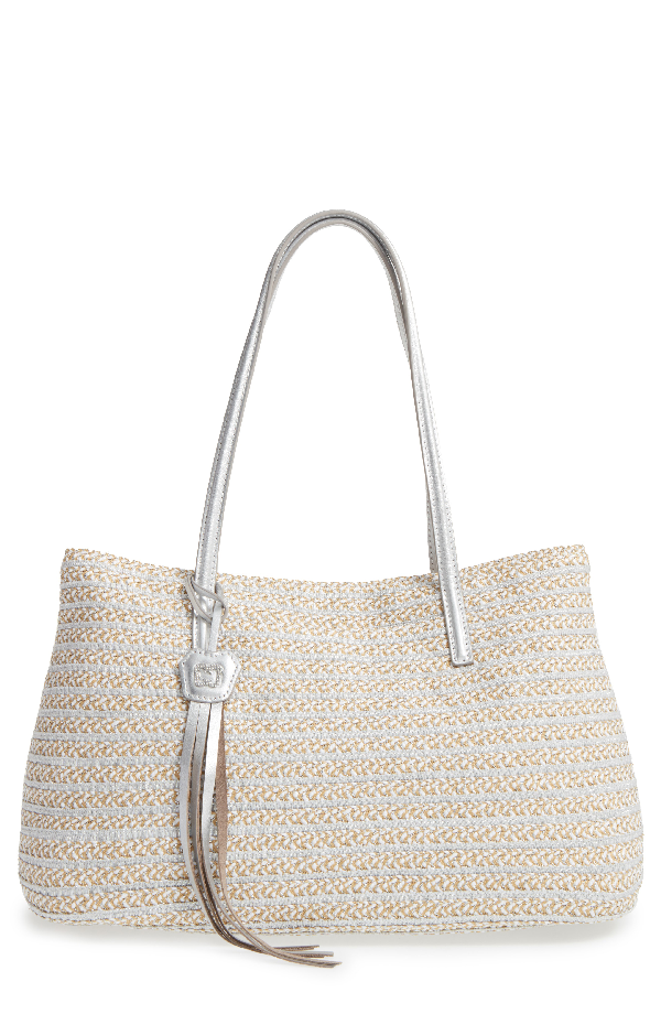 Eric Javits Dame Brooke Squishee Tote Bag In Frost White