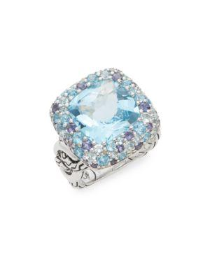 John Hardy Batu Klasik Ring In Silver - Blue