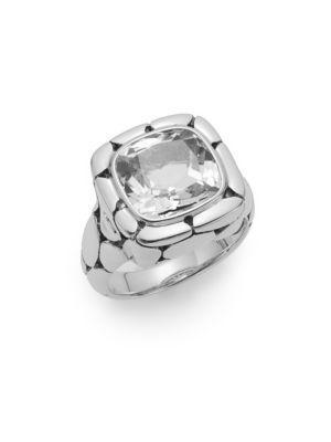 John Hardy Batu Kali White Topaz & Sterling Silver Ring