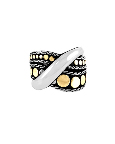 Dot Menari 18K Yellow Gold & Sterling Silver Twist Ring in Silver - Gold
