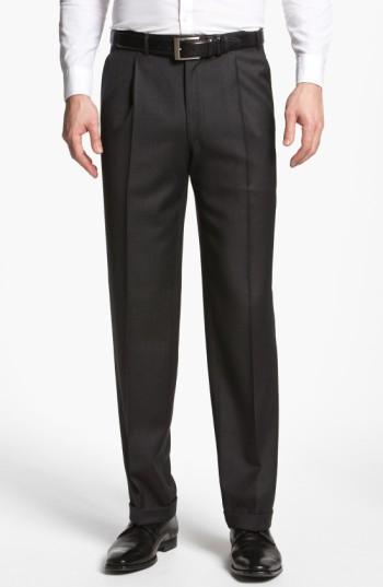 Canali Pleated Trousers In Grey