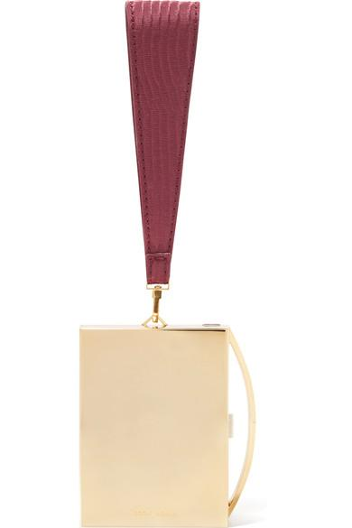 Eddie Borgo Lou Gold-tone And Leather Clutch