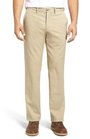 Tommy Bahama Offshore Flat Front Pants In Khaki