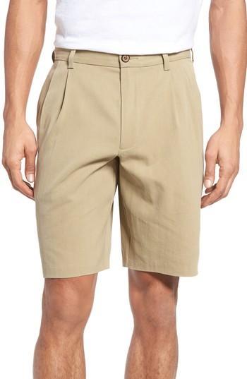 Tommy Bahama St. Thomas Pleated Shorts In Sisal