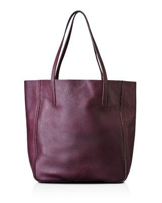 Shinola Medium Leather Shopper - Purple In Aubergine/silver