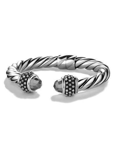 David Yurman Renaissance Reverse Set Bracelet With Hematine In Silver/black