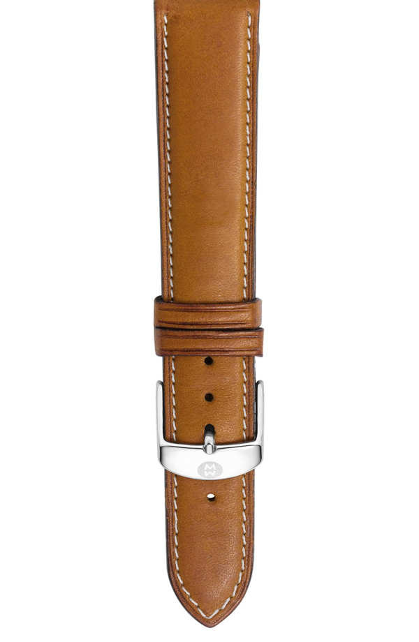 Michele Saddle Calfskin Leather Watch Strap, 12mm