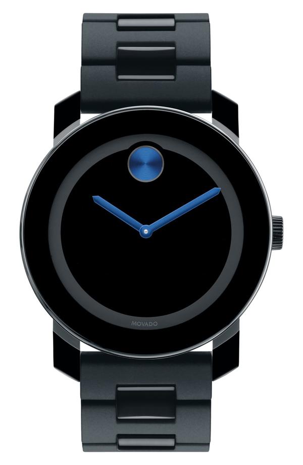 Movado 'large Bold' Bracelet Watch, 42mm In Black