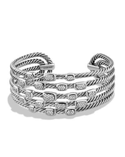 f3492a8e6 David Yurman Confetti Wide Cuff Bracelet With Diamonds In Pave Diamond