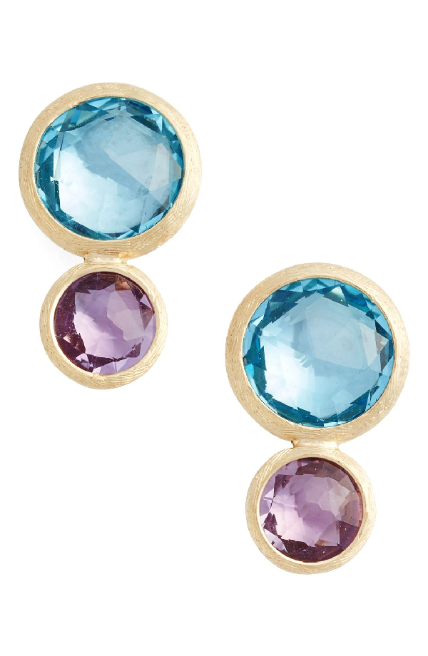 cf933f52ee71 Marco Bicego 18K Yellow Gold Jaipur Two Stone Earrings With Blue Topaz And  Amethyst