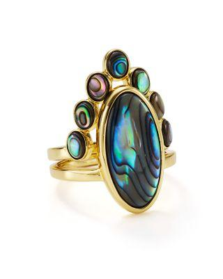 Jules Smith Eclipse Stacking Cocktail Rings, Set Of 2 In Gold/Multi