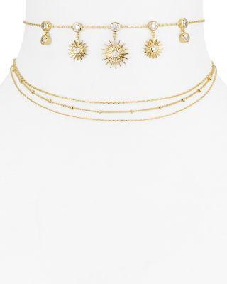 Jules Smith Galley Choker Necklace, 12 In Gold/Clear