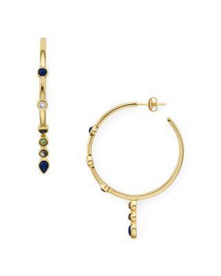 Jules Smith Malta Hoop Earrings In Gold/Multi
