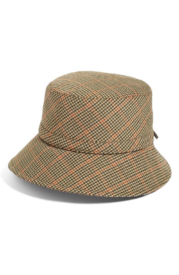 9651913222e Eric Javits Water Repellent Nylon Rain Hat - Beige In Tan Check ...