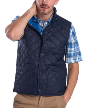 Barbour Men's Blundell Quilted Gilet In Navy
