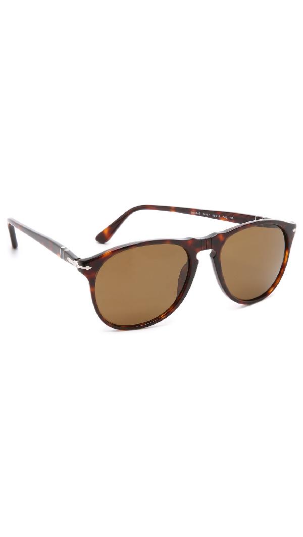 b0c169f6b4a1 Persol Men's Polarized Icons Collection Evolution Pilot Sunglasses, 55Mm In  Havana/Brown Polar