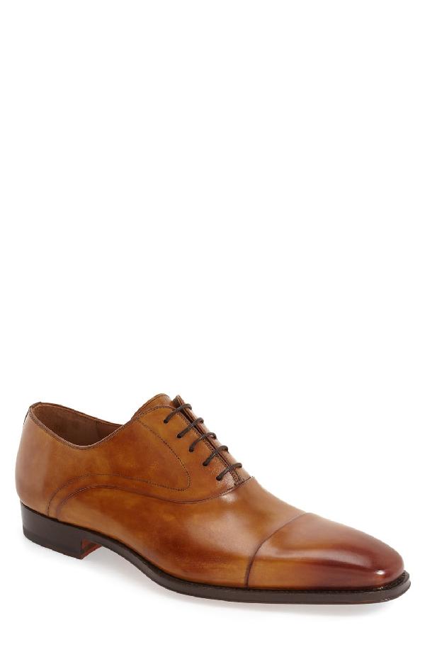 Magnanni Saffron Cap Toe Oxford In Cuero Leather