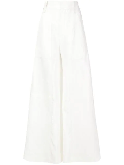 ChloÉ Flared Trousers In White