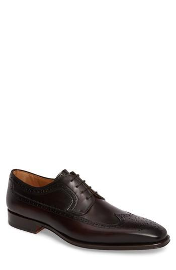 Magnanni Marbelo Longwing Derby In Brown Leather